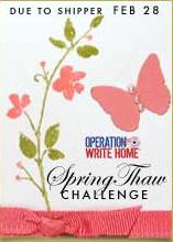 Operation Write Home Spring Thaw Challenge